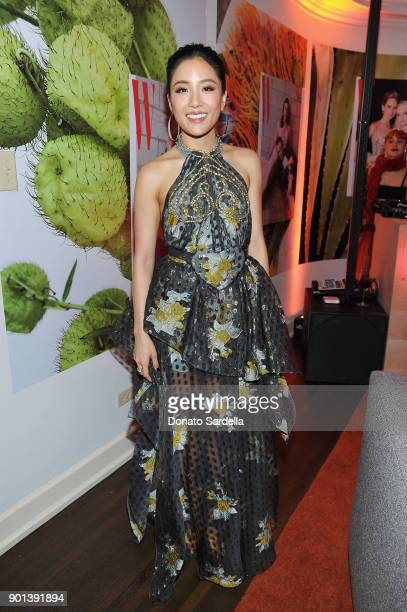 Constance Wu attends W Magazine's Celebration of its 'Best Performances' Portfolio and the Golden Globes with Audi Dior and Dom Perignon at Chateau...