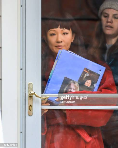 Constance Wu is seen filming 'Hustlers' on March 25 2019 in New York City
