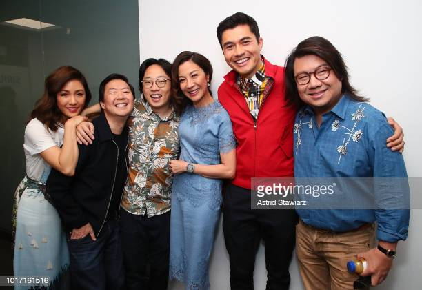 Constance Wu Ken Jeong Jimmy O Yang Michelle Yeoh Henry Golding and Kevin Kwan attend SiriusXM's Entertainment Weekly Radio Spotlight With The Cast...