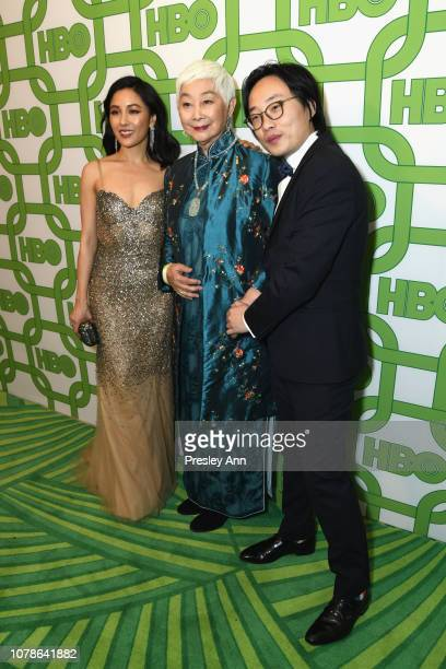 Constance Wu Lisa Lu and Jimmy O Yang attend HBO's Official Golden Globe Awards After Party at Circa 55 Restaurant on January 6 2019 in Los Angeles...