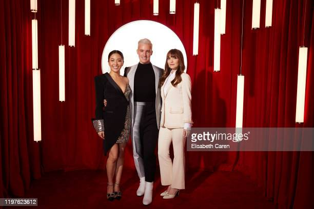 Constance Wu Mitchell Travers and Lorene Scafaria attend the 22nd Costume Designers Guild Awards at The Beverly Hilton Hotel on January 28 2020 in...