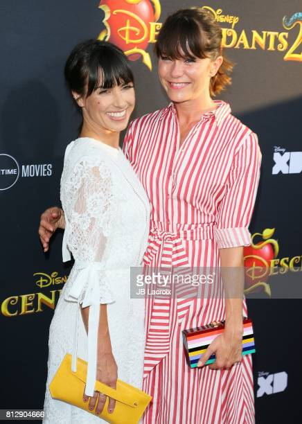 Constance Zimmer and Katie Aselton attend the premiere of Disney Channel's 'Descendants 2' on July 11 2017 in Los Angeles California