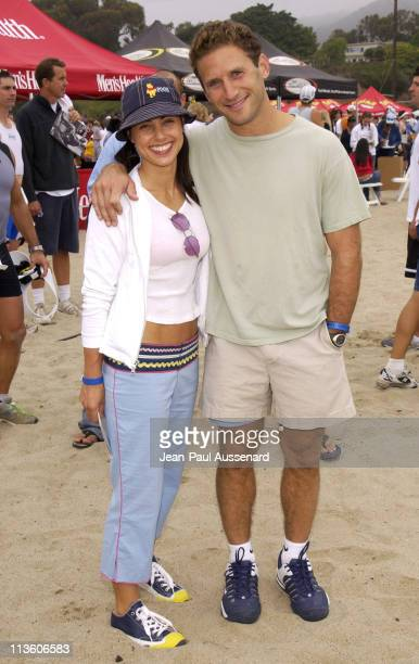 Constance Zimmer and Mark Feuerstein during 17th Annual Nautica Triathlon Benefitting The Elizabeth Glaser Pediatric Aids Foundation at Zuma Beach in...