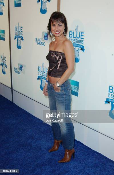 Constance Zimmer arrives at House of Blues for Blue Jam Sessions presented by Blue from American Express to help generate money and awareness for...