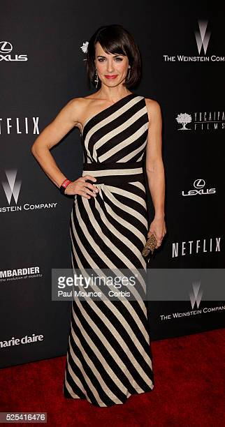 Constance Zimmer arrives at the Weinstein Company Golden Globes AfterParty