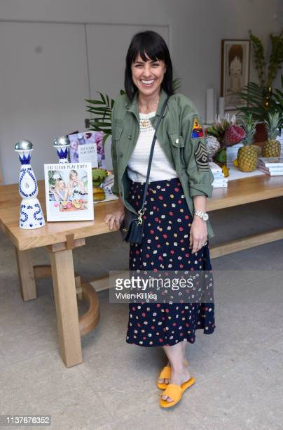 """Constance Zimmer attends Sakara Life + Rothy's Celebrate """"Eat Clean Play Dirty"""" Cookbook Launch on April 16, 2019 in Beverly Hills, California."""