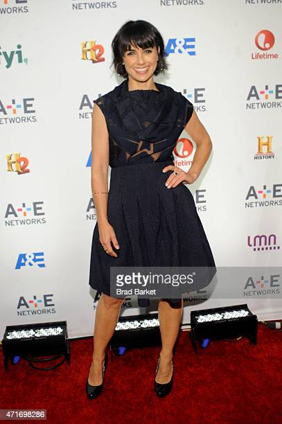 Constance Zimmer attends the 2015 AE Networks Upfront on April 30 2015 in New York City