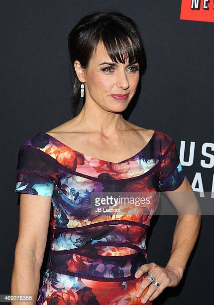 """Constance Zimmer attends the """"House Of Cards"""" season 2 special screening held at Directors Guild Of America on February 13, 2014 in Los Angeles,..."""