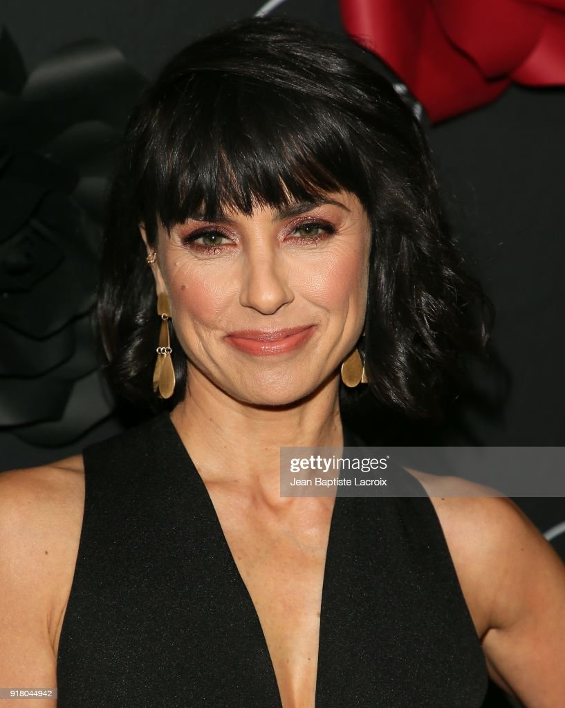 Constance Zimmer attends the Lifetime hosts Anti-Valentine's Bash for Premieres of 'UnREAL' and 'Mary Kills People' on February 13, 2018 in West Hollywood, California.