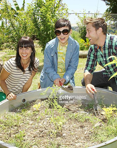 Constance Zimmer Ginnifer Goodwin and Lance Bass attend The Environmental Media Association's 3rd Annual Garden Luncheon held at Carson Senior High...