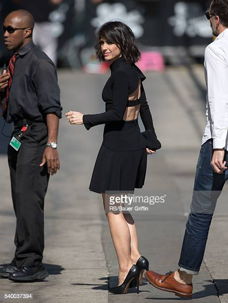 Constance Zimmer is seen at 'Jimmy Kimmel Live' on June 13 2016 in Los Angeles California