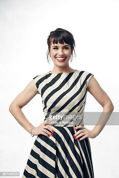 Constance Zimmer poses for a portrait during the 21st Annual Critics' Choice Awards at Barker Hangar on January 17, 2016 in Santa Monica, California.