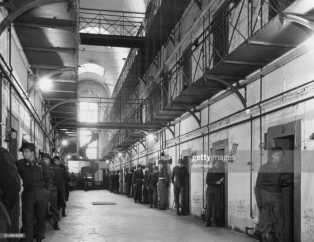 Constant Surveillance For Goering Hess Co Nuremberg Germany Posted outside each cell door and observing the & Judas Door Stock Photos and Pictures | Getty Images
