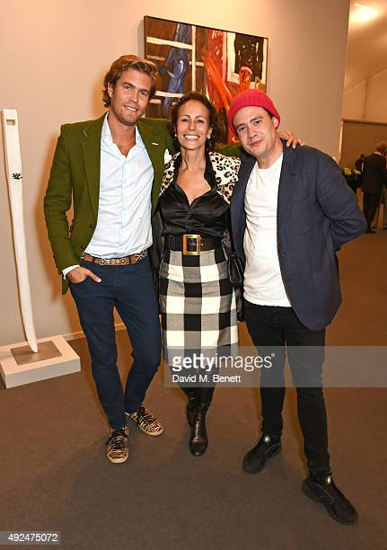 Constantin Bjerke Andrea Dellal and Adam Weymouth attend a champagne reception hosted by the directors of Frieze to celebrate the opening of Frieze...