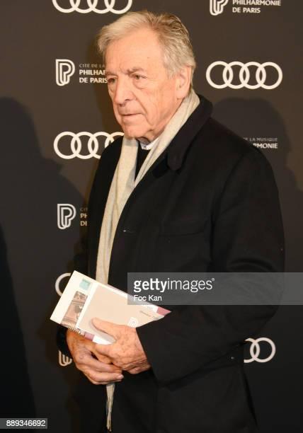 Constantin CostaGavras attends Celebration Of Gabriel Yared's Film Music At The Philharmonie De Paris on December 9 2017 in Paris France