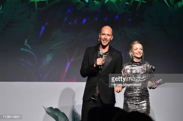 Constantin Herrmann and Janin Ullmann at the Glammy Award on February 07 2019 in Munich Germany