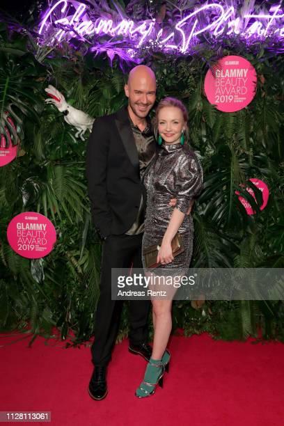 Constantin Herrmann and Janin Ullmann at the Glammy Award on February 07, 2019 in Munich, Germany.