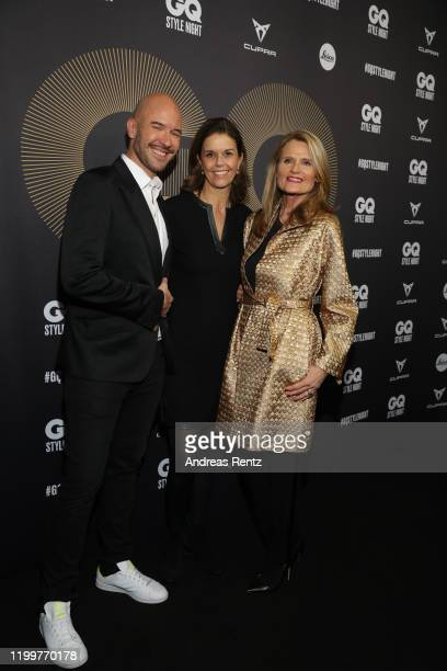 Constantin Herrmann and Kerstin Pooth and guest attend the GQ Style Night during Berlin Fashion Week Autumn/Winter 2020 at BRICKS Berlin on January...