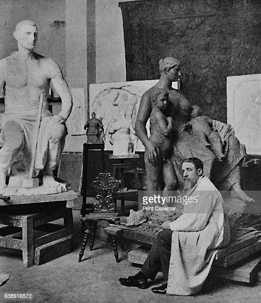 Constantin Meunier in his Studio' 1905 From The Studio Volume 35 [London Offices of the Studio London 1905] Artist M Duyk