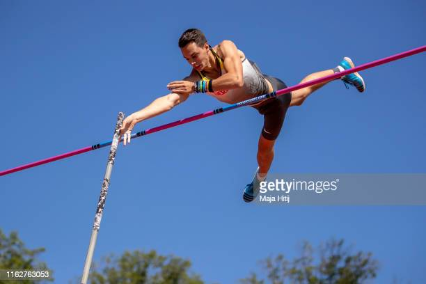Constantin Rutsch of Germany competes during qualifying rounds of Pole Vault Men on July 18 2019 in Boras Sweden