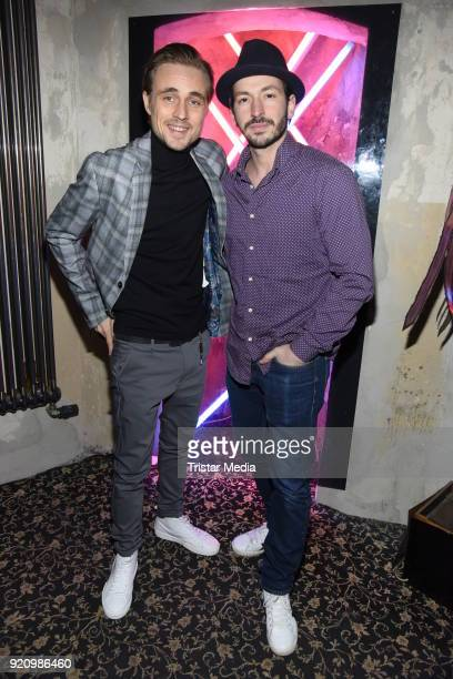 Constantin von Jascheroff and Arnel Taci during the Pantaflix Panta Party on February 19 2018 in Berlin Germany