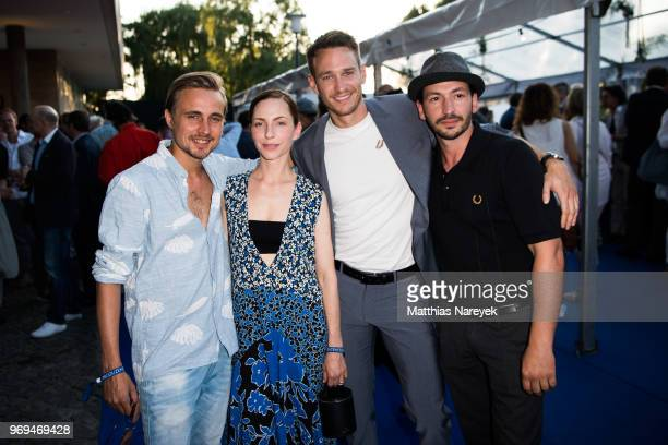 Constantin von Jascheroff Katharina Schuettler Vladimir Burlakov and Arnel Taci attend the Summer Party of the German Producers Alliance on June 7...