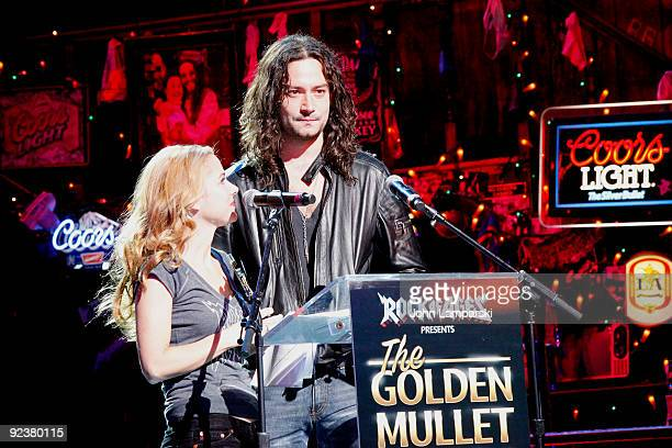 Constantine Maroulis and Kerry Butler attends the 2009 Golden Mullet Awards at Brooks Atkinson Theatre on October 26 2009 in New York City
