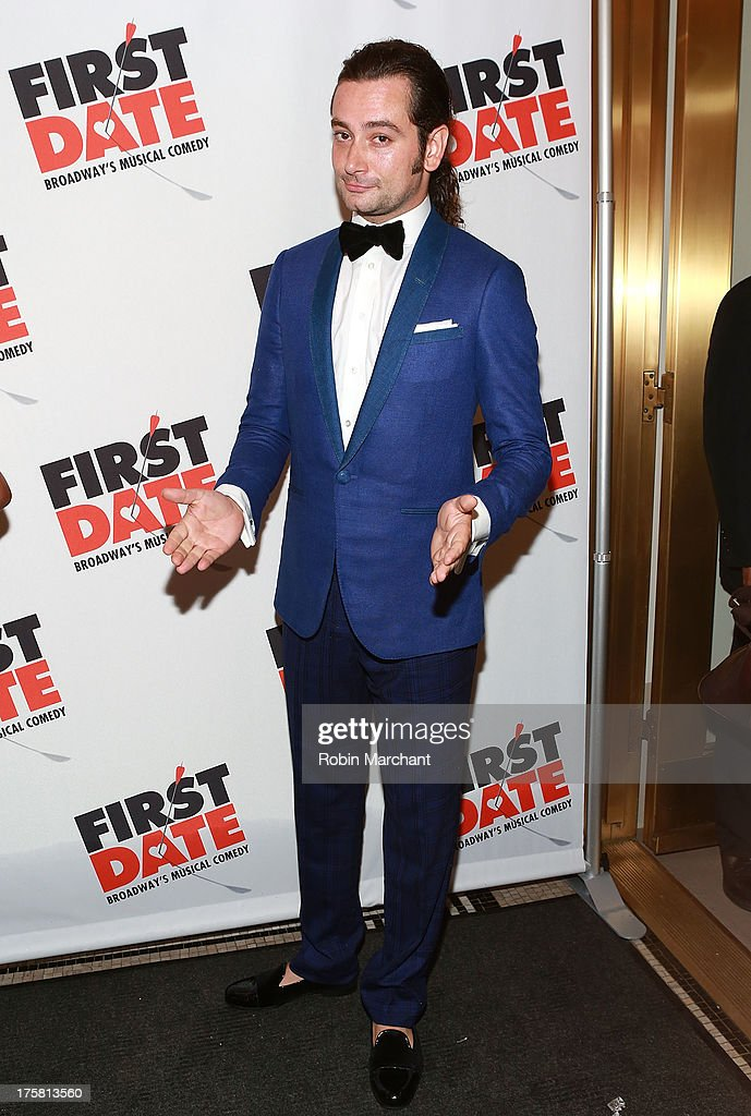 Constantine Maroulis attends 'First Date' Broadway Opening Night at Longacre Theatre on August 8, 2013 in New York City.