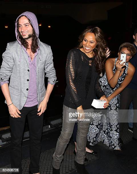 Constantine Maroulis Deborah Cox Courtney Emmy RaverLampman with cast attending the Broadway Opening Night Gypsy Robe Ceremony honoring Jason Wooten...