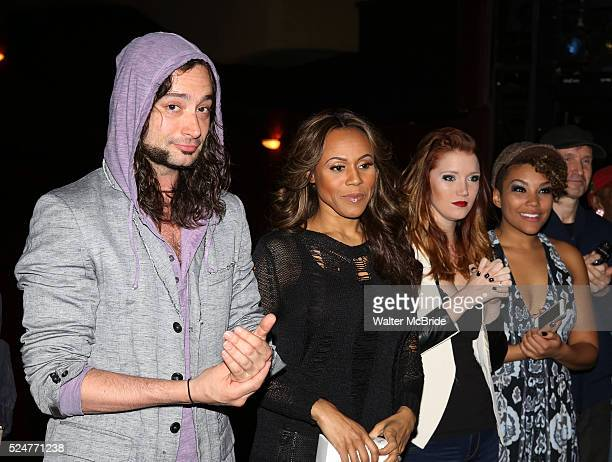 Constantine Maroulis Deborah Cox Courtney Markowitz Emmy RaverLampman attending the Broadway Opening Night Gypsy Robe Ceremony honoring Jason Wooten...