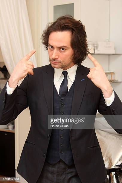 Constantine Maroulis gets his hair cut by celebrity hairstylist Ricardo Rojas at Ricardo Rojas Atelier on March 5 2014 in New York City