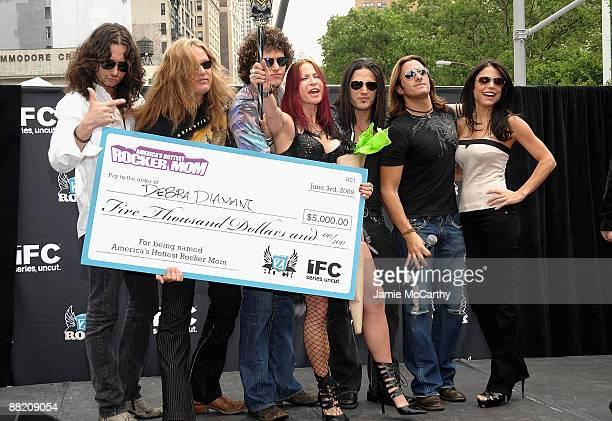Constantine MaroulisSebastian BachPaulie ZAmerica's Hottest Rocker Mom Winner Debra DiamantJoey CassataDavid Z and Bethanny Frankel attend America's...
