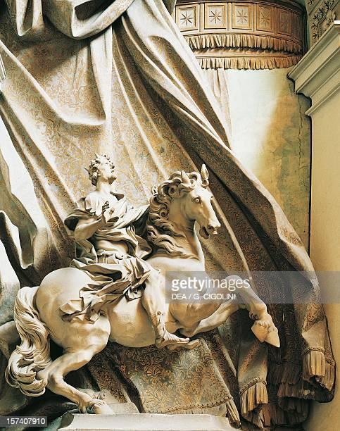 Constantine on Horseback marble statue by Gian Lorenzo Bernini St Peter's Basilica Rome Vatican City 18th century