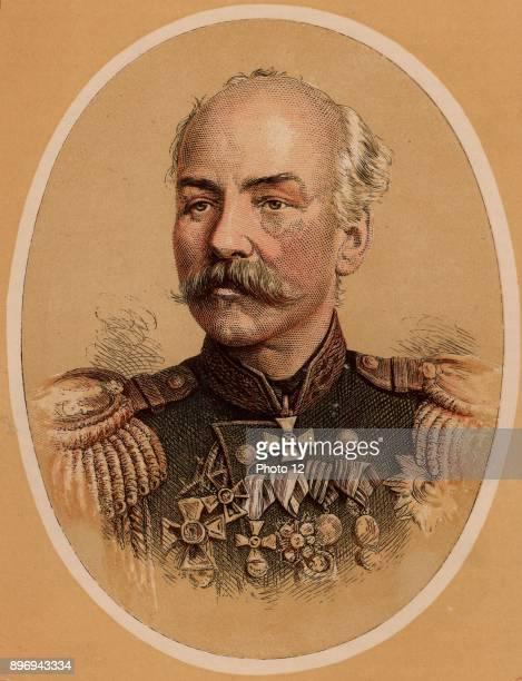 Constantine Petrovich von Kaufmann Russian military engineer Distinguished service at Kars Governor of Turkestan 18671882 Colourprinted wood engraving