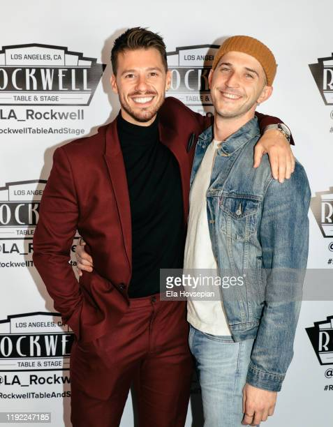 Constantine Rousouli with guest attend A Molly Jolly Christmas at Rockwell Table and Stage on December 05 2019 in Los Angeles California
