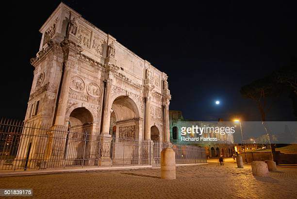 Constantine's Arch at night