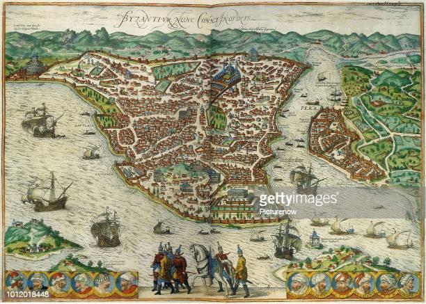 Constantinople 1572 Georg Braun and Frans Hogenber