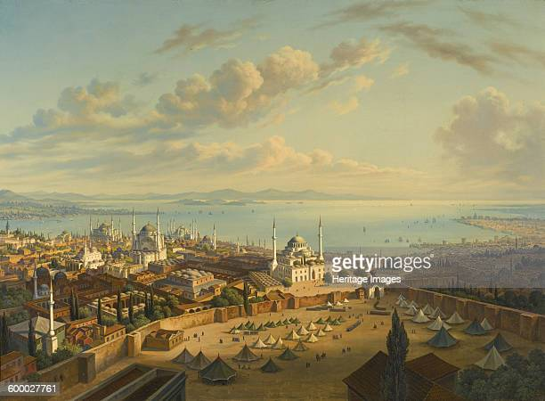 Constantinople from the Fire Tower of Beyazit Private Collection Artist Sattler Hubert