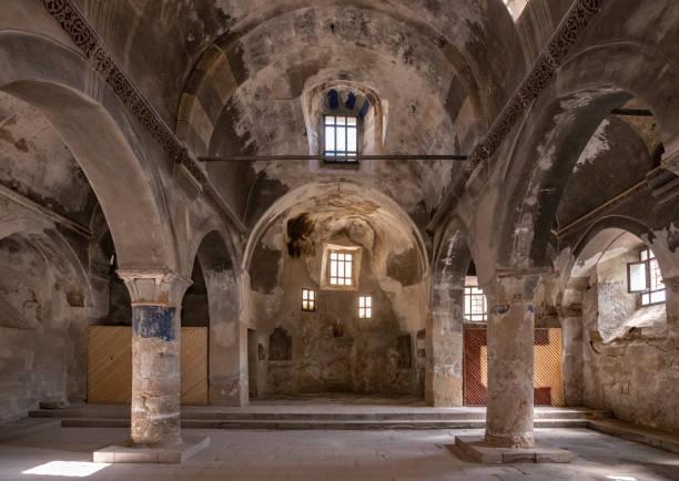 Constantinos and Hellena old  greek church interior, at Sinasos , Mustafa Pasha, Cappadocia Nevsehir Turkey