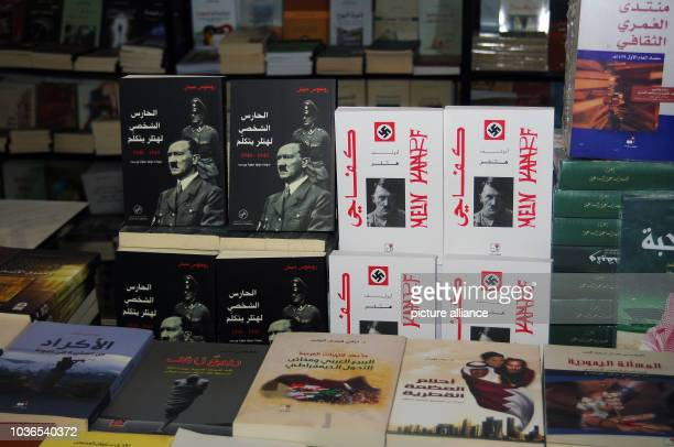 A constantly found reading on Arabian book fairs Adolf Hitler's 'Mein Kampf' here next to the biography of Rochus Misch titled 'Der Leibwaechter...