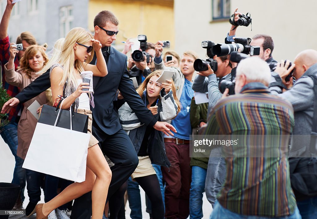 Constantly in the public eye - Fame : Stockfoto
