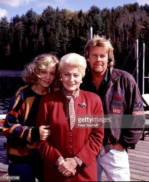 """Constanze Engelbrecht m. Winnie Markus und Howard Carpendale, ZDF-TV-Special """"Wiedersehen in Kanada"""", Schauspielerin, Sänger, Promis, Prominente,..."""