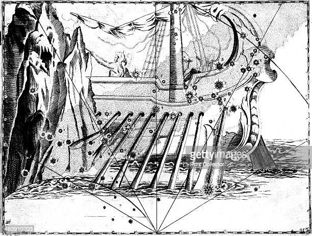 Constellation of Argo Navis 1723 From Uranometria by Johannes Bayer German astronomer and lawyer Bayer invented the system for naming stars using...