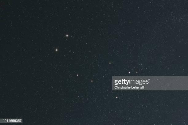 constellation of gemini seen with the naked eye - costellazione foto e immagini stock
