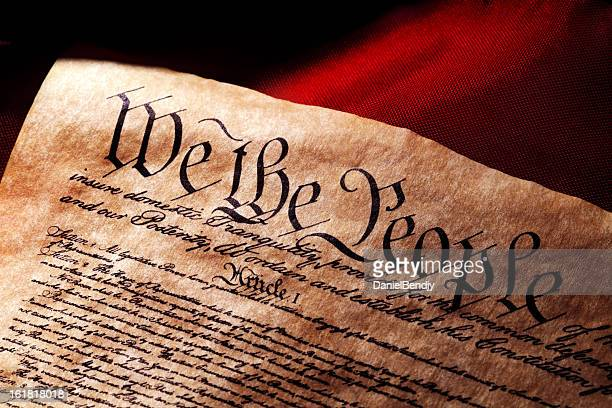us constitution and flag - justice concept stock pictures, royalty-free photos & images