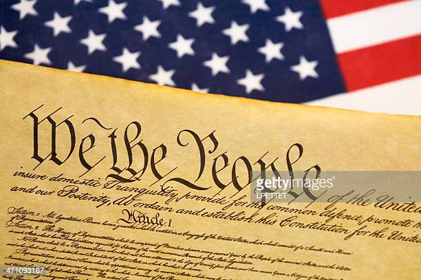 usa constitution background - bill of rights stock photos and pictures