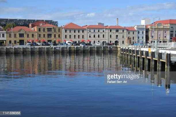 constitution dock hobart tasmania australia - rafael ben ari stock pictures, royalty-free photos & images