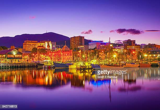 Constitution Dock, Victoria Dock, Hobart skyline