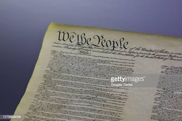 constitution of the united states - fundador imagens e fotografias de stock