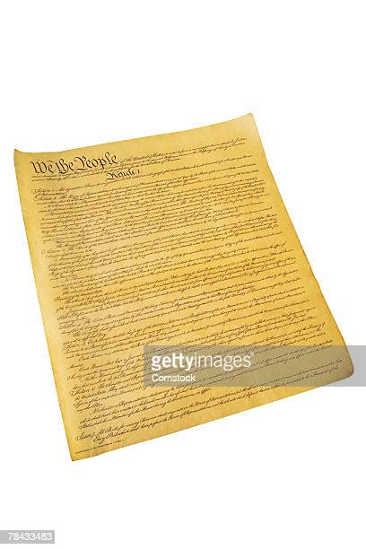 constitution of the united states - founding fathers stock photos and pictures